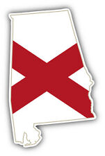 Alabama Usa State Map Flag Car Bumper Sticker Decal 3' x 5'