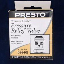 09998 - Presto Pressure Cooker Pressure Relief Valve+