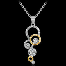 Hot Women Fashion Necklace Jewelry Pure Clear Simply Crystal Pendant Necklace