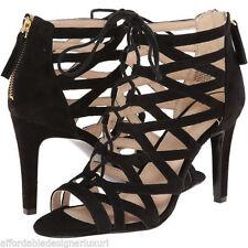 NIB Nine West Black Suede Authority Pump Strappy Sandal, Size 10.5M Retail $99