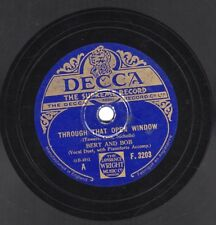 "10"" 78 Bert And Bob ""Through That Open Window"" / ""Pal Of My Dreams"" DECCA F.3203"
