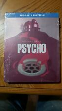 Psycho (Blu-ray Disc, 2014, Limited Edition steel book cover, read description!)