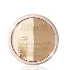 Eveline Highlighter and Bronzer Pressed Powder Duo Face Make UP Glam Light 56