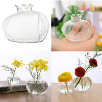 Handmade Pomegranate Clear Glass Flower Vase for Wedding Party Home Table Decor