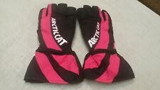 Arctic Cat Black & Pink XXL Snowmobile Gloves USED