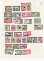 JAMAICA PRE 1960 ALBUM PAGE OF 35 STAMPS