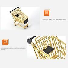 Supplies Trolley Basket Supermarket Handcart Daily Metal Fashion Shopping Bag SL