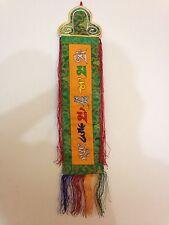Tibetan OM Mantra silk brocade Gift Door Wall Hanging Thangka