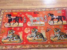 Antique Karabagh Caucasion 5x8 Tribal Pictoral Rare