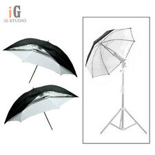 "Universal 2pcs 40""/101cm Removable reflective black and white Softlight umbrella"
