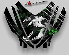 Arctic Cat M7 M8 M1000 Crossfire 05 - 11 Graphics Decal Sticker Hood Skull Green