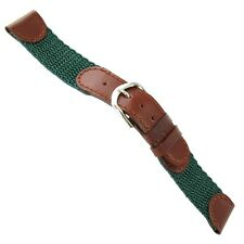 19mm Gilden Swiss Army Padded Brown and Green Nylon and Leather Watch Band