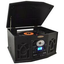 RETRO VINTAGE PYLE TURNTABLE RECORD CD CASSETTE PLAYER w/ VINYL to MP3 RECORDING
