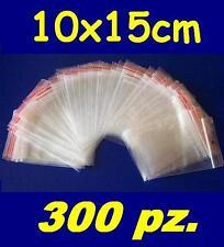 10x15 cm buste bustine zip plastica SACCHETTI 300 pz.