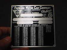 PACKARD 1940s vintage Data Plate Emblem