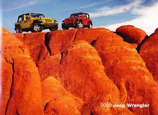 2009 Jeep Wrangler 36-page Original Sales Brochure Book Catalog - Rubicon