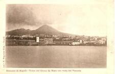 Dintorni di Napoli  -  TORRE DEL GRECO da Mare con vista del Vesuvio