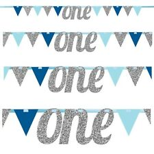 TWINKLE LITTLE STAR BLUE - LETTER ONE PENNANT BANNER - Baby Shower Party