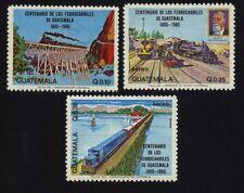 Guatemala 1216/18 Eisenbahn postfrisch