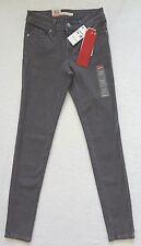 Levis 711 Skinny Jeans Womens Size 00 Size 24x30 Stretch Gray Denim