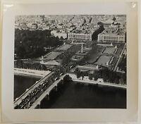 photographie aérienne argentique Paris Place de la Concorde circa 1960