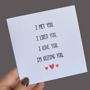 Anniversary HUSBAND WIFE BOYFRIEND GIRLFRIEND PARTNER Love Greeting Card