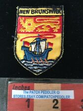 PATCH NEW BRUNSWICK FLAG SHIELD CANADIAN CANADA COLLECTIBLE TRAVEL 59VV ex