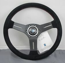 Nardi Competition Suede Steering Wheel 330mm Black W/ Red Stitching 6070.33.2094