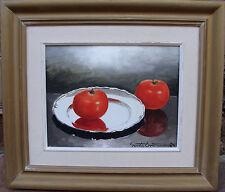 Gösta Emming 1903-1989, Stillleben mit Silberteller und Tomaten, um 1950