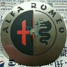 alfa romeo stemma logo orologio da parete muro acciaio auto arredo arredamento