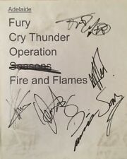 DragonForce Signed Set List Adelaide 2013 in Acceptable Condition