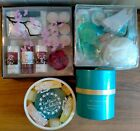 FOUR LOVELY UNOPENED GIFT SETS FULL OF MAINLY BATH TOILETRIES