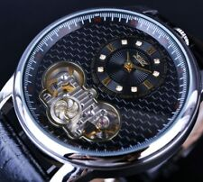 Tourbillon Automatic Mechanical Wrist Watch Luxury Men Skeleton Dial Wristwatch