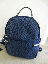 Tommy Hilfiger Women's Medium Signiture Print Fabric Backpack NWT $99