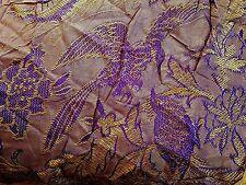 Oriental fringed figural embroidered bedspread coverlet 70 x 98 vintage FYEO