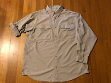 Columbia Blood N Guts PFG Fishing Shirt Mens L Vented Sun Protection Roll Sleeve