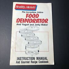 Vtg Electric Food Dehydrator 5 Stackable Trays Instruction Manual / Recipes Only