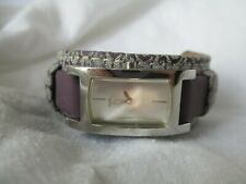 Guess Rectangular Watch,Dual Logo Band, WORKING!