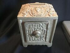 Large Antique Safe Coin Deposit Bank Ornate Cast Iron Pat Pdg Mark