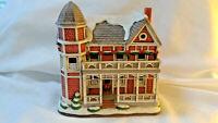 Lefton LATTIMORE HOUSE Colonial Christmas Village 10391 Holiday  1995  C2