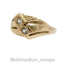 585er Rotgold Ring weißer Saphir 14ct red gold white sapphire 14k 🌺🌺🌺🌺🌺