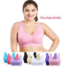 Sin costuras Sujetador deportivo de Fitness Yoga Mujeres Crop Top del chaleco del sueño enfermería sujetador talla grande
