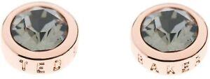 Ted Baker Sinaa Black Diamond Stud Earrings Rose Gold Tone