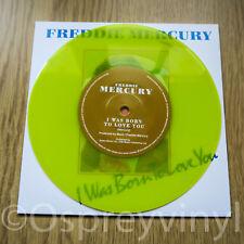 "Freddie Mercury Queen I Was Born to love you Unplayed Yellow Vinyl 7"" single"
