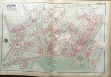 1925 BOSTON BRIGHTON ABERDEEN CLEVELAND CIRCLE, MA. ORIG G.W. BROMLEY ATLAS MAP
