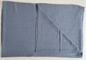 100% Blue Grey Cashmere Shawl Pashmina Scarf Wrap Stole Women Wool Soft Winter 6