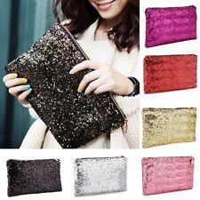 Women Girly HandBags Sparkle Glitter Evening Clutch Bag Wedding Party Handbags #