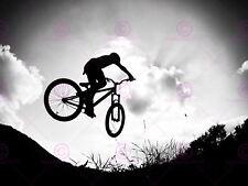 Bicicleta De Salto Bicicleta Bmx Sport Fotografía Silueta cartel Art Print LV11184