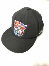 New Era 59Fifty Optimus Prime Transformers Hat Cap Fitted Black Red 7 1/2