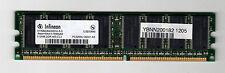 Memoria Infineon RAM 512 MB DDR 400 PC3200 CL3 HYS64D64300HU-5-C non ecc SDRAM